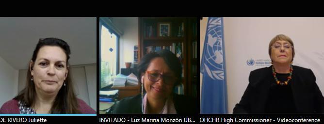 Luz Marina Monzón y Naciones Unidas